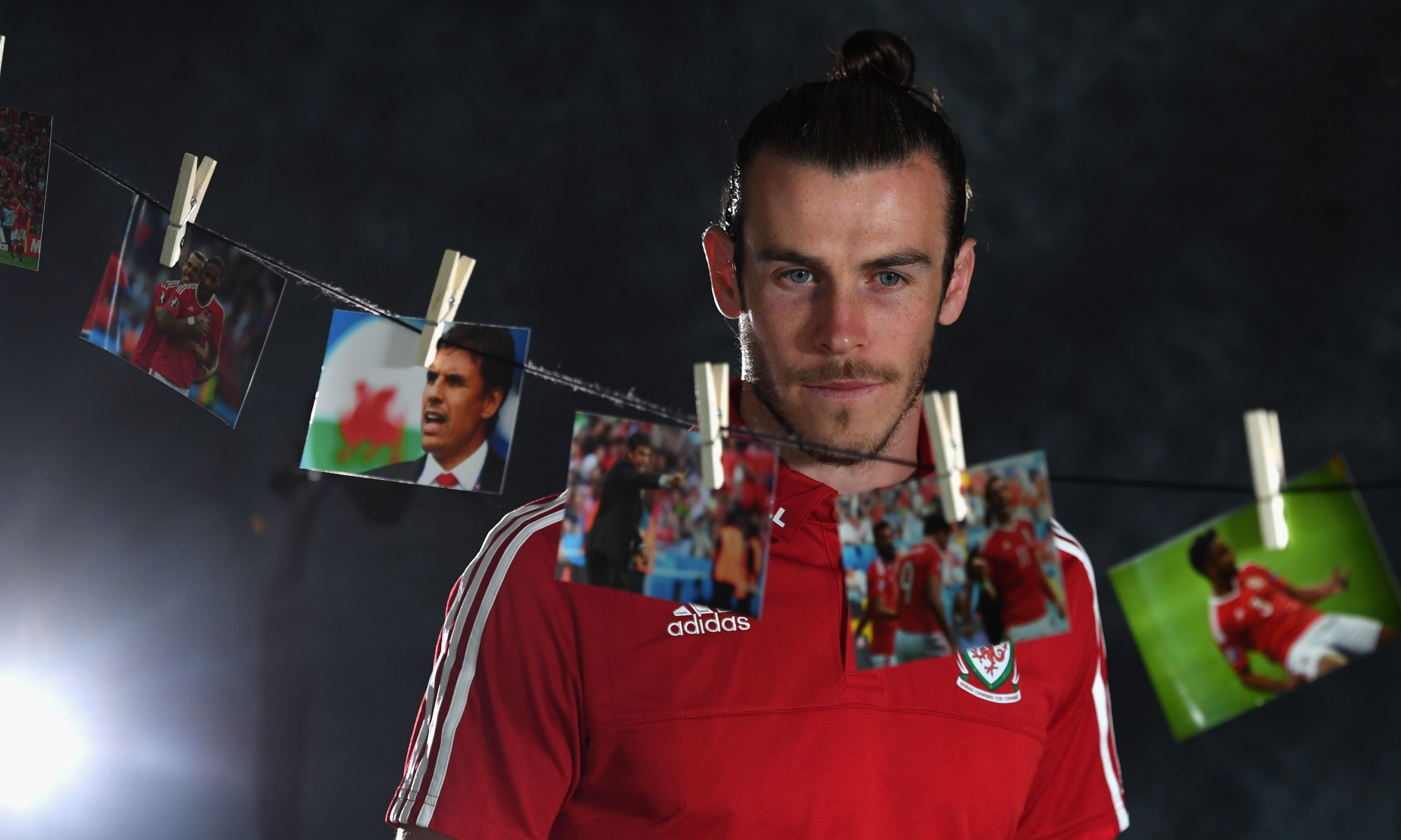 DINARD, FRANCE - JUNE 29:  Wales player Gareth Bale interviewed ahead of their quarter final match against Belguim at their Dinard training camp on June 29, 2016 in Dinard, France.  (Photo by Stu Forster/Getty Images) *** Local Caption *** Gareth Bale