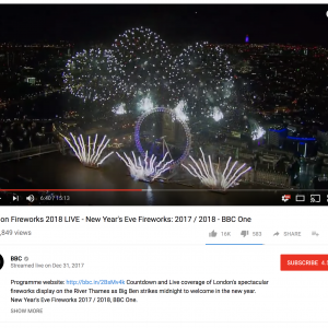 BBC – New Years Eve Fireworks